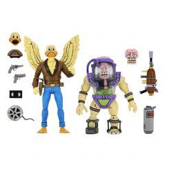 Les Tortues ninja pack 2 figurines Ace Duck & Mutagen Man Neca