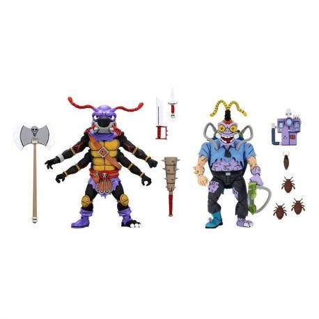 Les Tortues ninja pack 2 figurines Antrax & Scumbug Neca