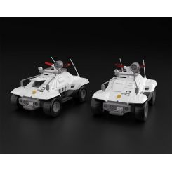 Mobile Police Patlabor pack 2 figurines Plastic Model Kit Type 98 Command Vehicle Aoshima
