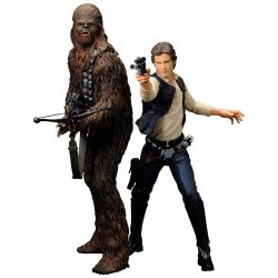 Star Wars pack 2 statuettes ARTFX+ Han Solo and Chewbacca Kotobukiya