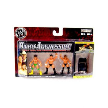 WWE Micro Aggression série 14 assortiment packs 3 figurines Cody Rhodes , Ted Dibiase , JBL