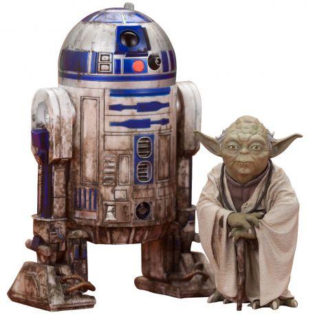 Star Wars Episode V pack 2 statuettes ARTFX+ Yoda & R2-D2 Dagobah Ver. Kotobukiya