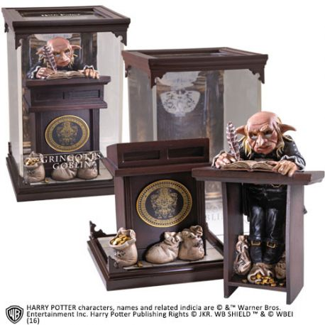 Harry Potter Diorama Magical Creatures Gringotts Goblin Noble Collection