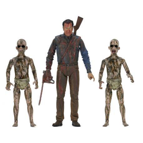 Ash vs. Evil Dead pack 3 figurines Bloody Ash vs Demon Spawn Neca